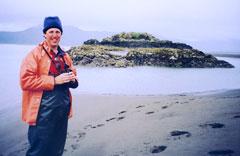 Milo Burcham at Shag Rock in Prince William Sound.