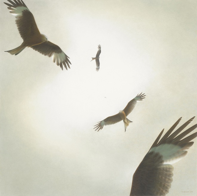 Chris Bacon, Ascension, 2013, watercolor and acrylic on rag board.