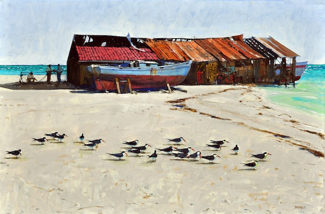 Al Barnes, Out Island Skimmers, 2013, oil on canvas.