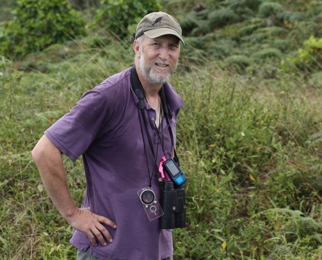 Russell Greenberg, photographed in the Galápagos. Photo courtesy Smithsonian Migratory Bird Center