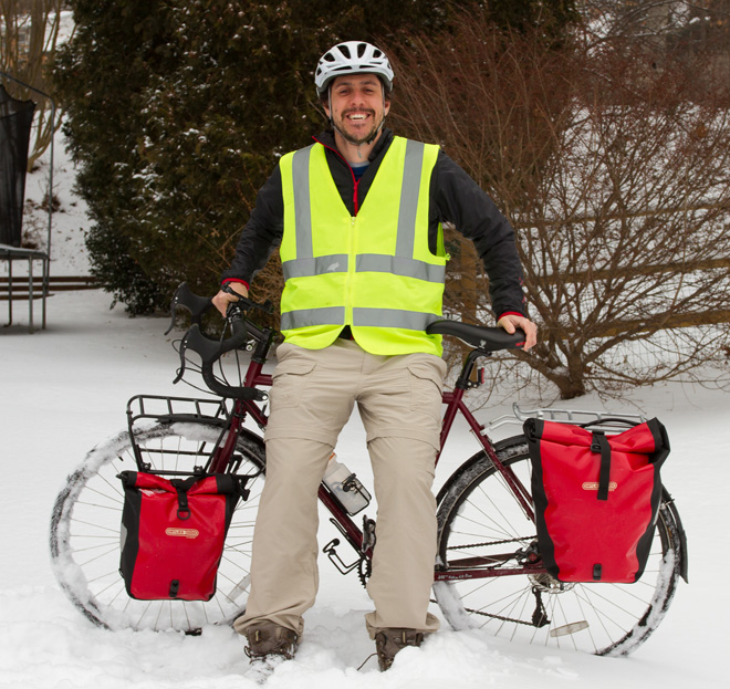 Birdwatcher Dorian Anderson biked across the United States in 2014 to raise money for bird conservation.