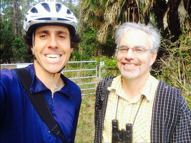 Dorian Anderson with Bill Pranty, author of A Birder's Guide to Florida.