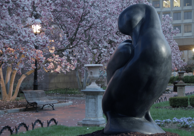 Labrador Duck sculpture at the Smithsonian. Photo by Todd McGrain