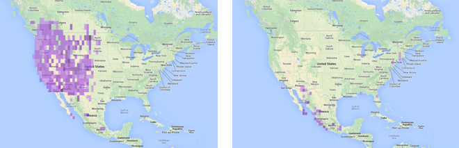 August, 2003-13 (left), January, 2003-13 (right)