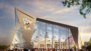 Exterior of the planned Minnesota Stadium. Courtesy Minnesota Vikings.