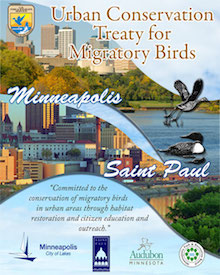 Urban Treaty for Migratory Birds Minneapolis-St. Paul. Courtesy U.S. Fish & Wildlife Service: Migratory Birds.