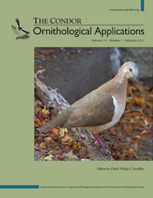 The Condor: Ornithological Applications, Volume 117, Issue 1, February 2015.