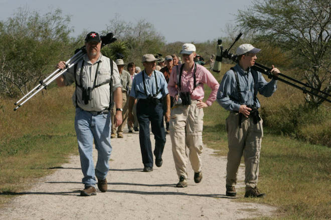 Birders at Laguna Atascosa National Wildlife Refuge in Texas, photo by Steve Hillebrand/U.S. Fish and Wildlife Service.